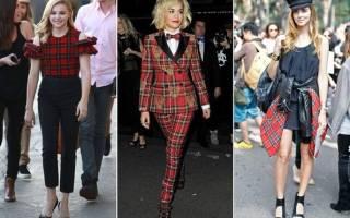 Модный тренд: красная шотландка