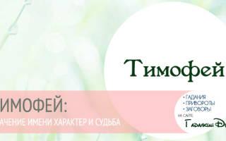 Тимофей имя для мальчика значение