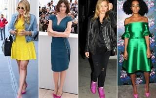 Модный тренд: розовая обувь