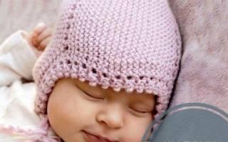 Вязание Чепчиков Спицами Для Новорожденных Спицами С