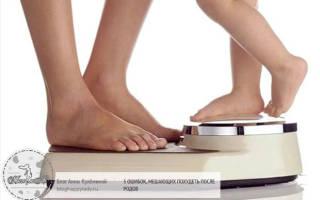 Как уходит вес после родов