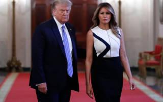Мелания Трамп на лабутенах и в строгом черном платье выглядит немного полновато