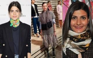 Как обновить свой образ — повяжем небольшой шарф