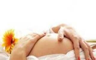 Тянет пупок изнутри при беременности