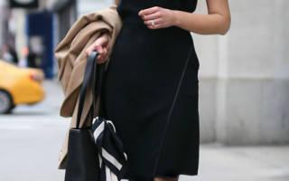 Черное платье футляр; куда надеть, чем дополнить образ